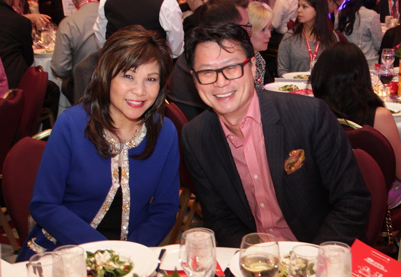 Scotiabank's Winnie Leong and reporter Fred Lee