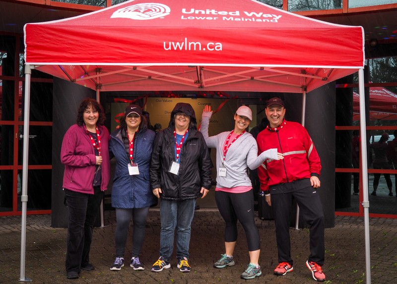 Jill Calder (left) with co-workers from New View Society at the Walk for Possibility.