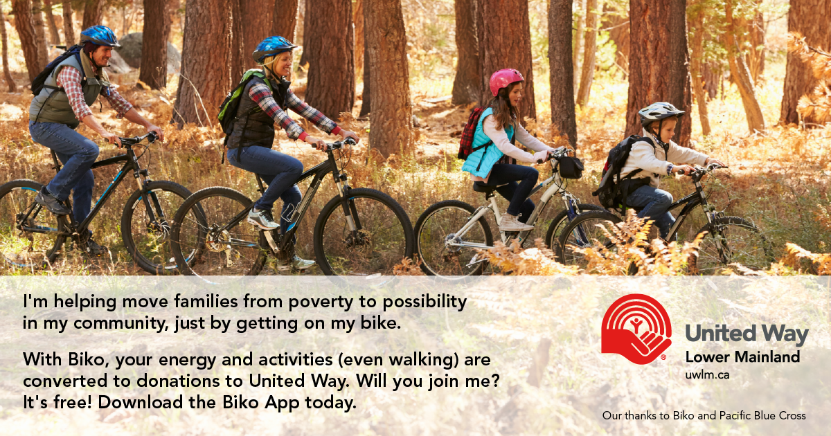 I'm helping move families from poverty to possibility in my community, just by getting on my bike!